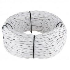Ретро кабель Werkel витой двухжильный 2,5 мм белый 4690389116759
