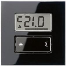 Дисплей термостата с таймером Jung LS 990 черный LSUT238DSW