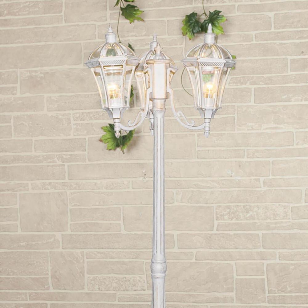 Садово-парковый светильник Elektrostandard Capella F/3 белое золото 4690389082412