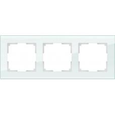 Рамка Favorit на 3 поста натуральное стекло WL01-Frame-03 4690389060182