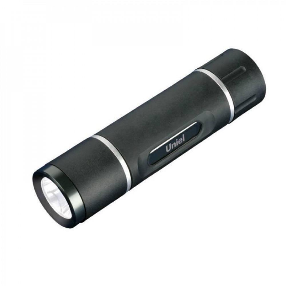 Ручной светодиодный фонарь (05625) Uniel от батареек 60 лм S-LD021-C Black