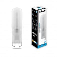 Лампа светодиодная Feron G9 7W 6400K Прямосторонняя Матовая LB-431 25757