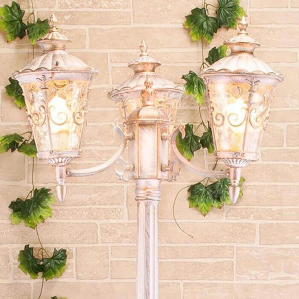 Садово-парковый светильник Elektrostandard Diadema F/3 GLYF-8046F/3 белое золото 4690389082504