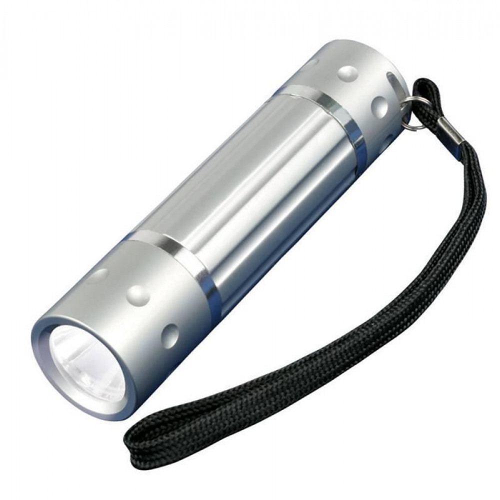 Ручной светодиодный фонарь (05940) Uniel от батареек 60 лм S-LD026-C Silver