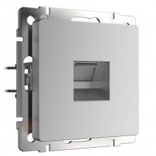 Телефонная розетка Werkel RJ-11 серебряный WL06-RJ-11 4690389053924