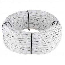 Ретро кабель Werkel витой двухжильный 1,5 мм белый 4690389116728