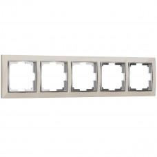 Рамка Werkel Snabb на 5 постов слоновая кость WL03-Frame-05-ivory 4690389059339
