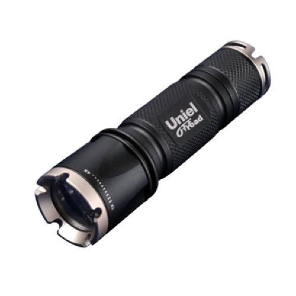 Ручной светодиодный фонарь (05723) Uniel от батареек 185 лм P-ML072-BB Black