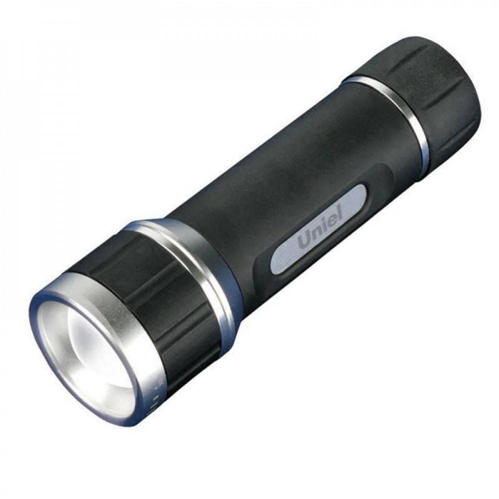 Ручной светодиодный фонарь (05626) Uniel от батареек 80 лм S-LD022-C Black