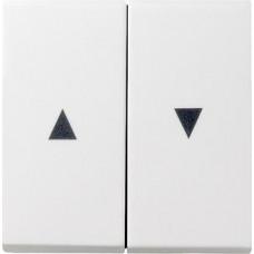 Лицевая панель Gira System 55 выключателя жалюзи чисто-белый шелковисто-матовый 029427