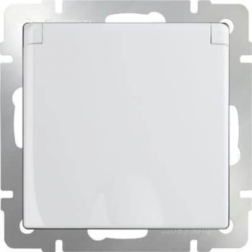 Розетка с заземлением с защитной крышкой и шторками WL01-SKGSC-01-IP44 4690389045639