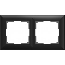 Рамка Fiore на 2 поста черный матовый WL14-Frame-02 4690389109102
