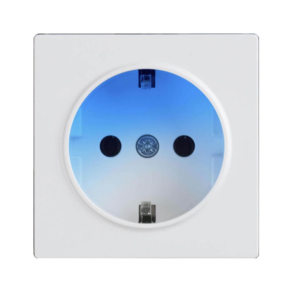 Розетка с заземлением и подсветкой Werkel белая WL01-10-03 4690389128516