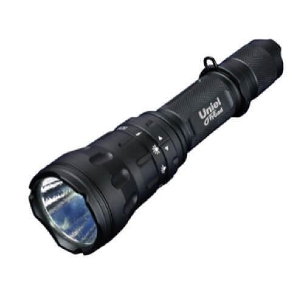 Ручной светодиодный фонарь (05727) Uniel от батареек 162х44 550 лм P-ML076-BB Black
