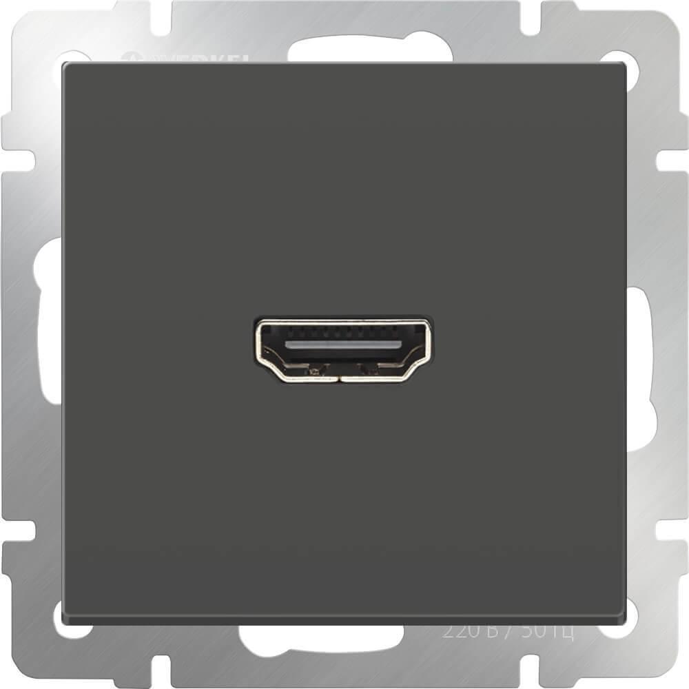 Розетка HDMI серо-коричневая WL07-60-11 4690389097485