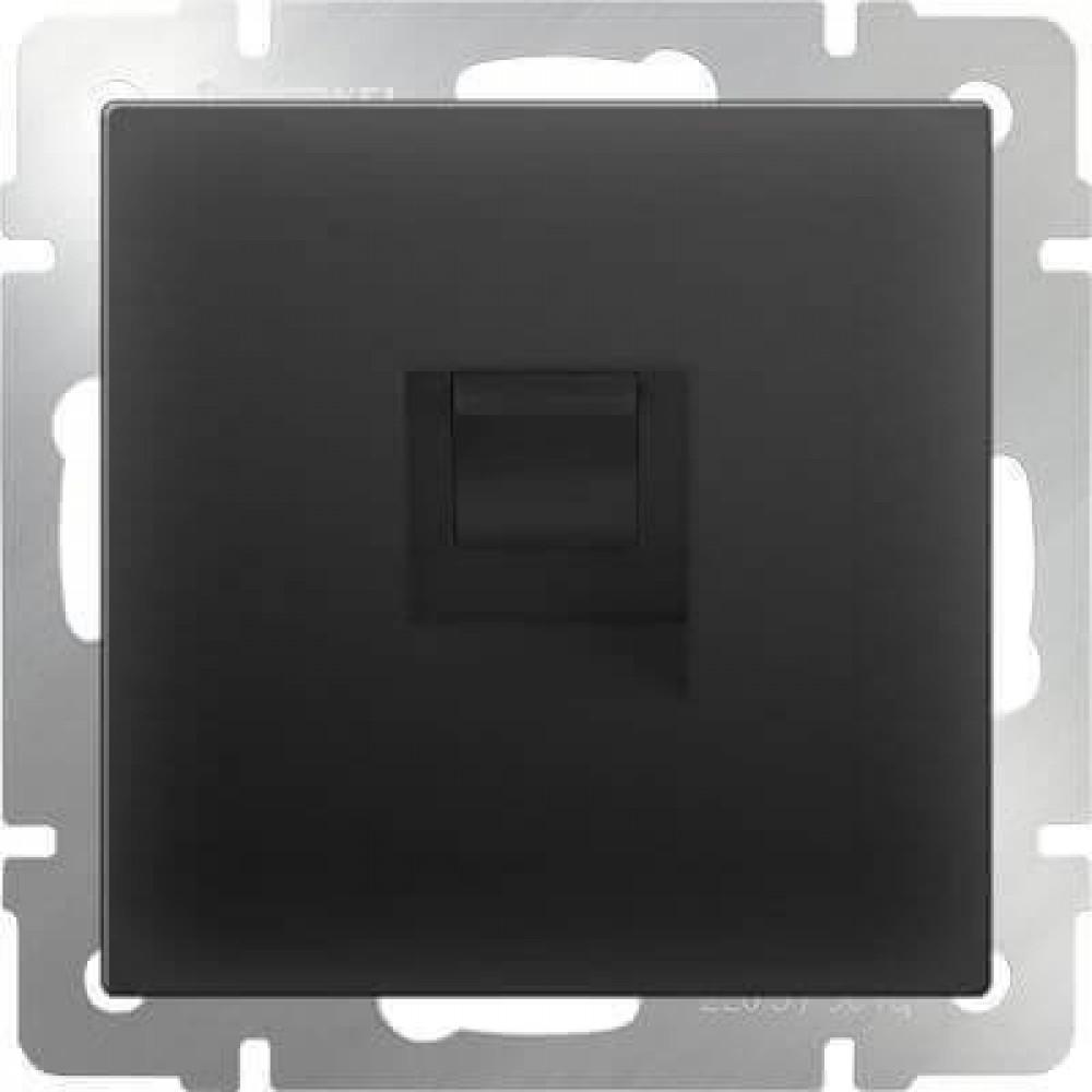 Розетка Ethernet RJ-45 черный матовый WL08-RJ-45 4690389054259