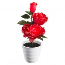 Настольная лампа декоративная Globo Orphelia Роза тройная 28026