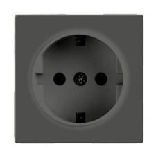 Розетка Werkel с заземлением серо-коричневая WL07-SKG-01-IP20 4690389054051