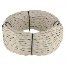 Ретро кабель Werkel витой двухжильный 2,5 мм песочный 4690389130175