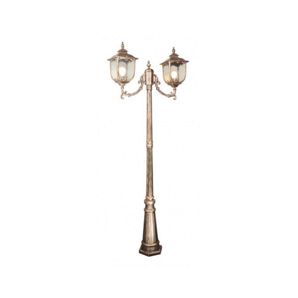 Садово-парковый светильник Elektrostandard Sculptor F/2 черное золото 4690389064661