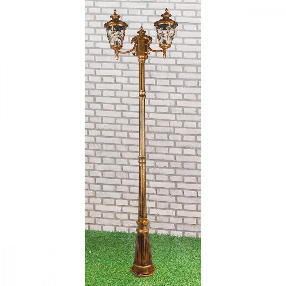 Садово-парковый светильник Elektrostandard Diadema F/3 GLYF-8046F/3 черное золото 4690389056949