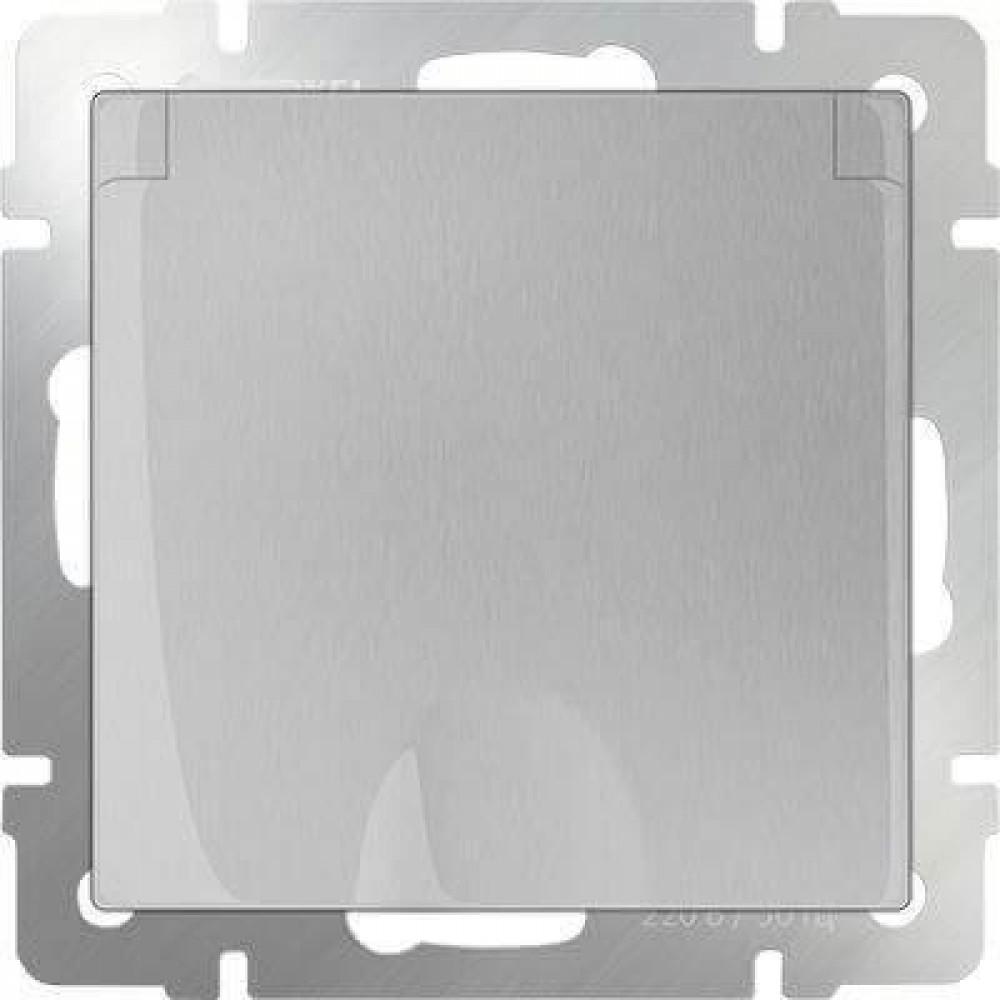 Розетка с заземлением с защитной крышкой и шторками WL06-SKGSC-01-IP44 4690389053917