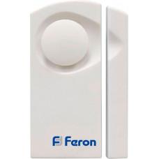 Звонок-сигрализация дверной беспроводной Feron 007-D Электрический 1 мелодия белый с питанием от батареек