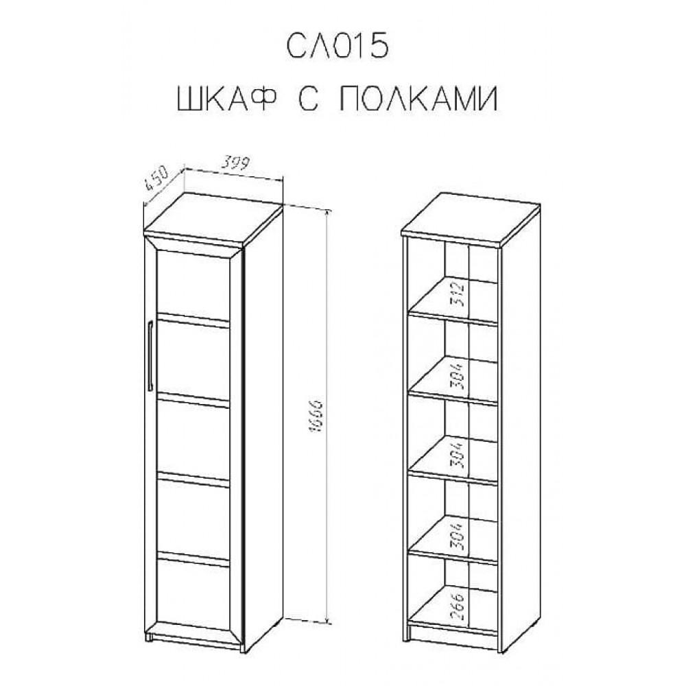 Шкаф -витрина Соло 015-1303