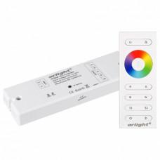 Контроллер-регулятор цвета RGBW с пультом ДУ Arlight SR-2839 SR-2839W White (12-24 В, 240-480 Вт, RGBW,ПДУ сенсор)