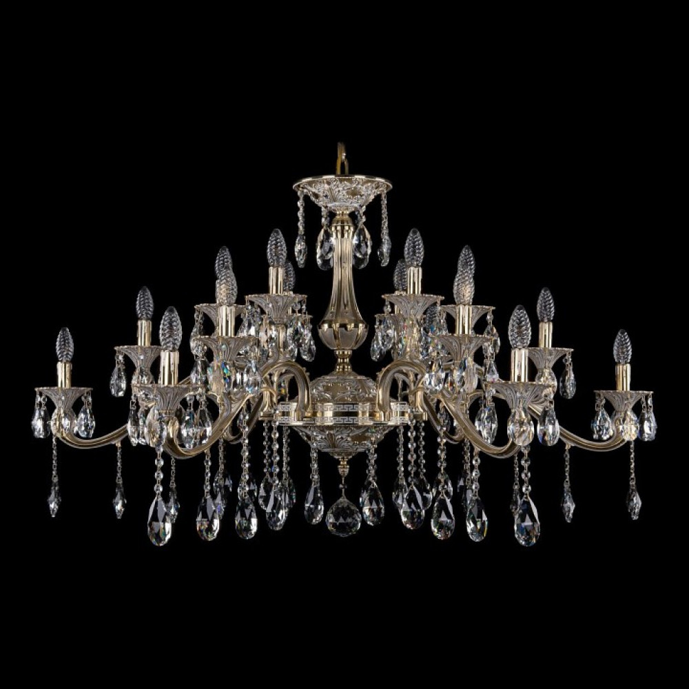 Подвесная люстра Bohemia Ivele Crystal 1709 1709/18/410/A/GW