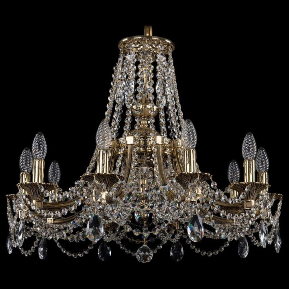 Подвесная люстра Bohemia Ivele Crystal 1771 1771/10/220/C/GB