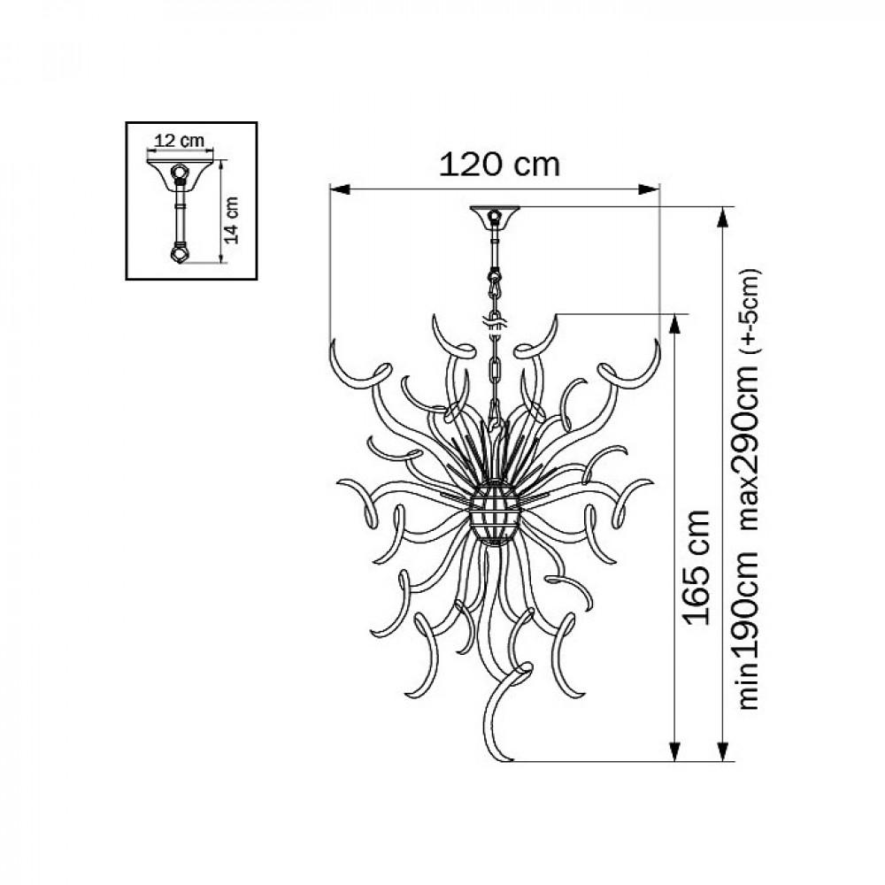 Подвесной светильник Artglass 890007