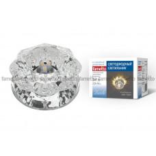 Светильник встраиваемый декоративный светодиодный 3Вт ТМ Fametto DLS-L301 3W GLASSY/CLEAR