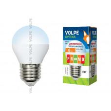 Лампа светодиодная диммируемая Volpe LED-G45-6W/NW/E27/FR/DIM/O