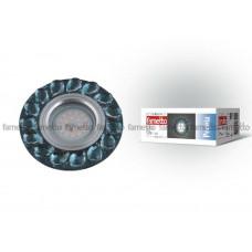 Светильник встраиваемый декоративный ТМ Fametto DLS-P107 GU5.3 CHROME/SMOKE+CLEAR, серия Peonia. Без лампы, цоколь GU5.3. Основание металл, цвет хром. Отделка стекло